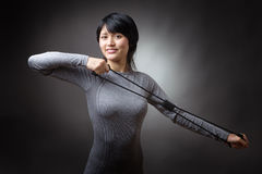 Model with resistance band Stock Photos