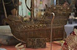 Model robić z brązu statek Obrazy Royalty Free