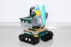 Model a robot with your own hands. Child development stock photography