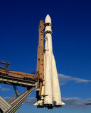Model of rocket  Stock Image