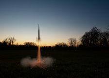 Model Rocket Lauch Royalty Free Stock Images