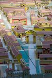 Model of the Roman city of Viminacium royalty free stock images