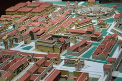 Model of a Roman military camp Stock Photo