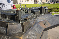 Model of Royal Wawel Castle and  Cathedral in Krakow Poland Stock Image