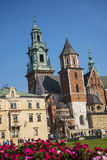 Model of Royal Wawel Castle and  Cathedral in Krakow Poland Royalty Free Stock Photos