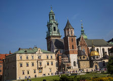 Model of Royal Wawel Castle and  Cathedral in Krakow Poland Royalty Free Stock Images