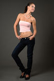 Model in roze bovenkant Royalty-vrije Stock Foto's