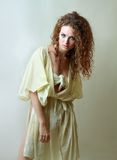 Model in rug halloween costume Royalty Free Stock Photography