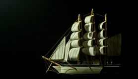 Model of a Sail boat Stock Photos