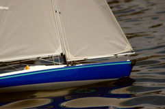 Model Sailboat. Blue Model Sailboat royalty free stock photos