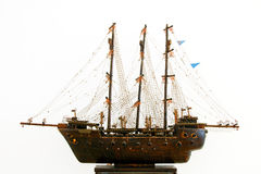 Model of sailing ship. Model sailing ship of wood and metal royalty free stock image