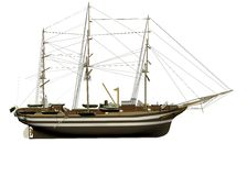 Model sailing ship Royalty Free Stock Photos
