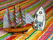 Model of the sailing ship Royalty Free Stock Image