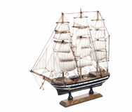 Model of the sailing ship Amerigo Vespucci Stock Photos