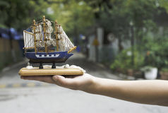 Model of a sailing ship Stock Image