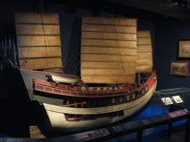 Model sailing ship in Hong Kong maritime museum royalty free stock image