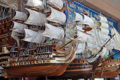 Model Sailing Ships, Ho Chi Minh City, Vietnam Stock Photography