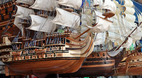Model Sailing Ships For Sale in Ho Chi Minh City royalty free stock image