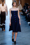 Model Sasha Luss walk the runway at the Derek Lam Fashion Show during MBFW Fall 2015 Royalty Free Stock Photo