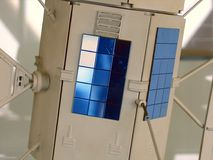 model satellit för miniatur fotografering för bildbyråer