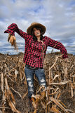 Model Scarecrow Stock Photo