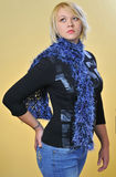 Model with Scarf. Studio work with a model for a scarf project Royalty Free Stock Photos