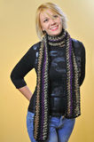 Model with Scarf. Studio work with a model for a scarf project Royalty Free Stock Images