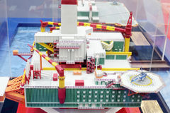 Model of sea oil base at Russia Marine Industry Conference 2012 Royalty Free Stock Photos