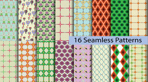 16 model seamless patterns Stock Photo