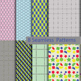 8 model seamless patterns Stock Image