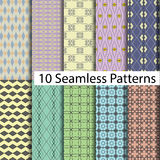 10 model seamless patterns Stock Photography