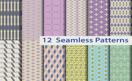12 model seamless patterns Royalty Free Stock Images