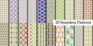 20 model seamless patterns Royalty Free Stock Photography