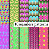 10 model seamless patterns Royalty Free Stock Photos