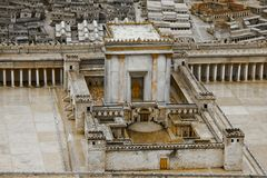 Model of the Second Temple royalty free stock images