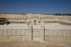 Model of the Second Temple Israel Museum. Model of the Second Temple during the time of Herod the Great. Located at the Israel Museum in Jerusalem Stock Photos