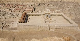 Model of the Second Temple at Israel Museum royalty free stock photo