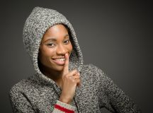 Model  with a secret Stock Photography