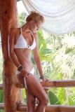 model sexigt barn för bikini Royaltyfri Foto
