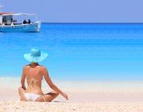 model sexigt för bikini Royaltyfri Fotografi