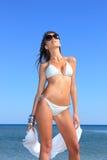 model sexigt för bikini Arkivfoton