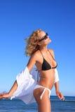 model sexigt för bikini Arkivbild