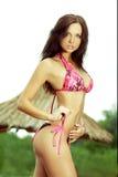 model sexigt slitage för bikini Fotografering för Bildbyråer