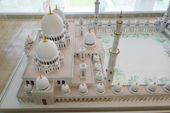 Model of Sheikh Zayed Grand Mosque Complex Royalty Free Stock Image