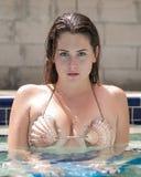 Model With Shell Bikini Stock Photo