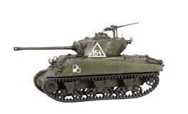 Model of Sherman tank Stock Photo