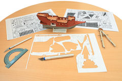 Model ship. Royalty Free Stock Photography