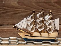 Model ship Royalty Free Stock Photos
