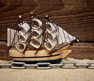 Model ship Royalty Free Stock Images