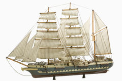 Model of a Ship. Photo of a model of a ship stock photo